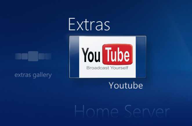 Youtube tile on Windows Media Center