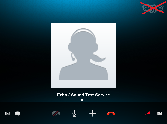 Skype With Logo Crossed Out