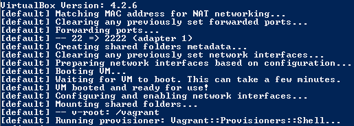 Vagrant Running in Powershell